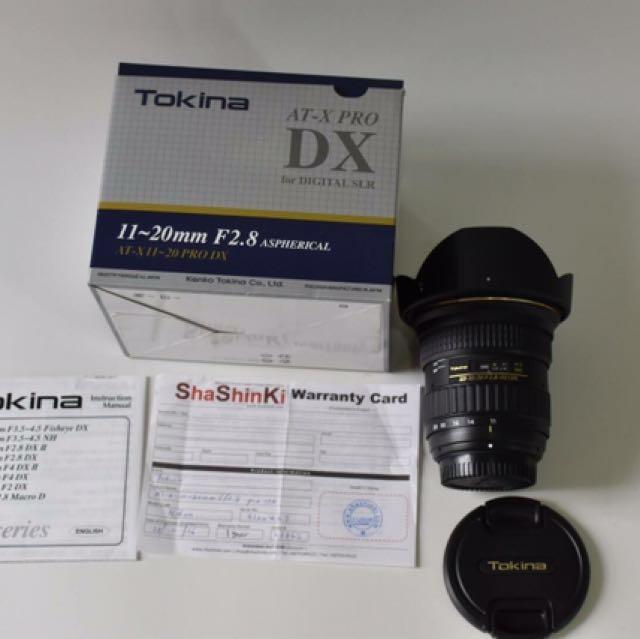 Tokina AT-X Pro 11-20mm F/2.8 For Nikon