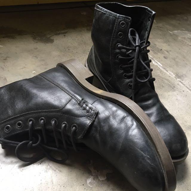 Topman black boot