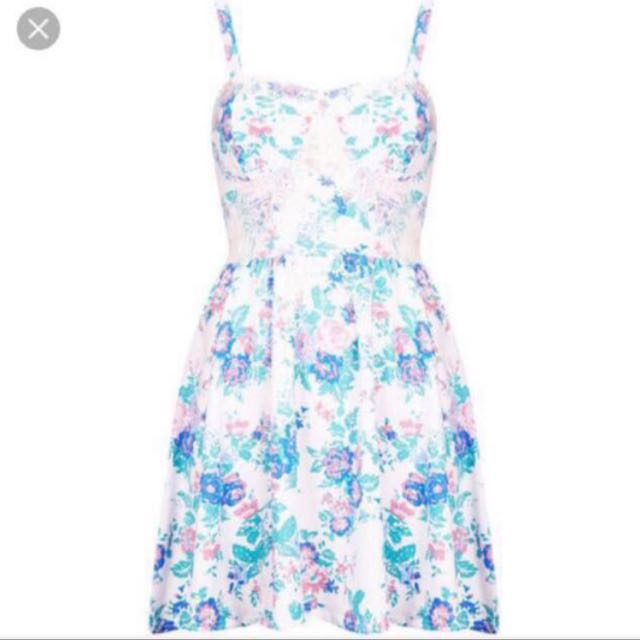 Topshop Floral Corset Dress