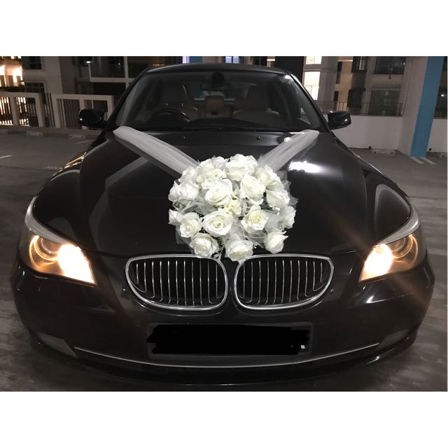 Wedding bridal car decoration design craft others on carousell junglespirit Gallery