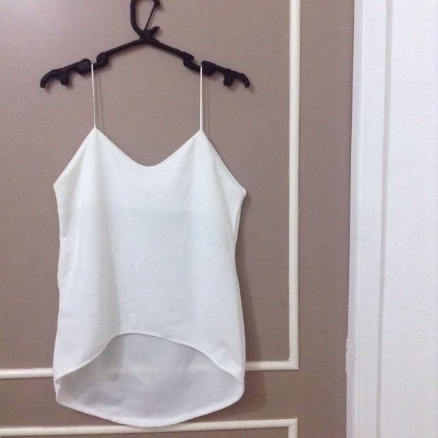 White Cami String Top