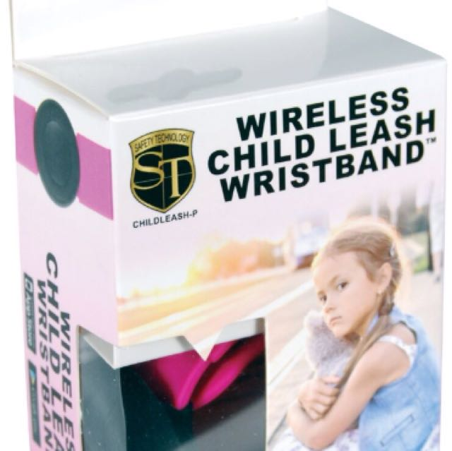 Wireless Child Leash Pink and Black