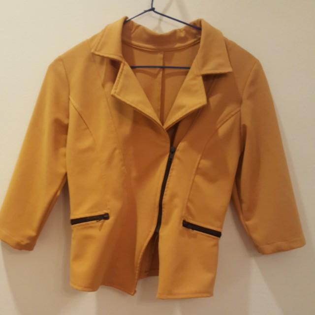 Yellow mustard blazer