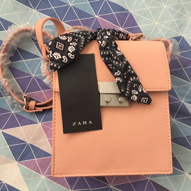 ZARA dusty pink handbag