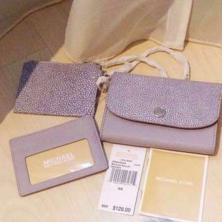 BN Authentic Michael Kors lilac wallet with coin holder and card holder