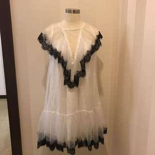 White sparkling dress