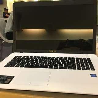 筆記行電腦「近乎全新」天使白∥大尺寸四核機∥1TB硬碟 ASUS