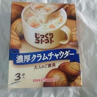 全新現貨 日本製造 Pokka Sapporo 即沖周打蜆湯 (一盒 3 包)