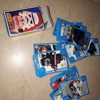 Mini star wars cards kids toys