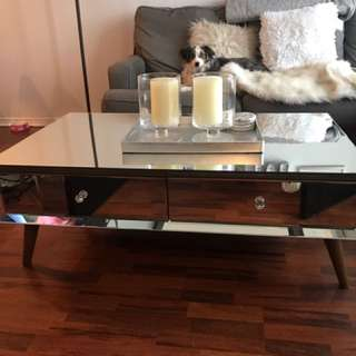Beautiful Mirrored Coffee Table