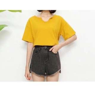 INSTOCK High Waisted Frayed Shorts