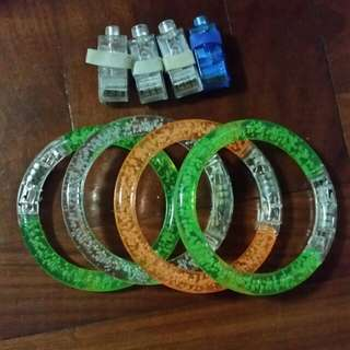 rave bangle bracelets and ring lights...