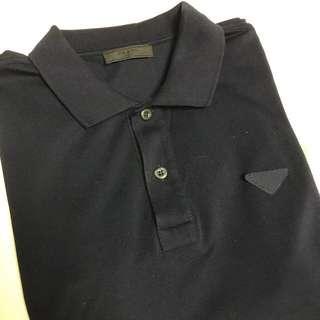 Prada navy blue polo shirt size M