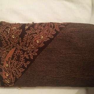 Luxury Pashmina  Scarf- Brown Boho Print
