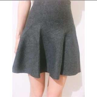 傘狀棉裙 灰色