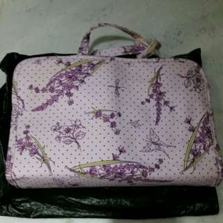 crabtree and evelyn purple lavender toiletry bag body care set...
