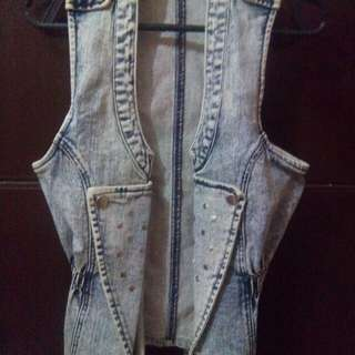 Jagthug denim sleeveless jacket