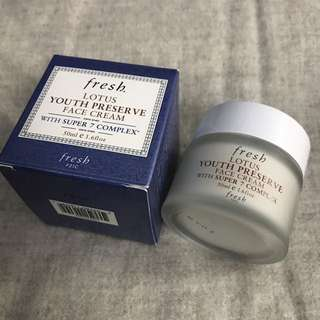 Fresh Lotus Youth Preserve Face Cream w/ package