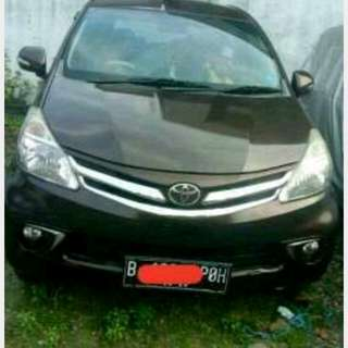avanza G 1.5 M th 2012 warna maroon