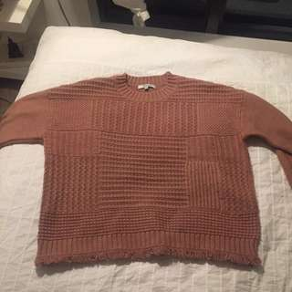 Madewell rose knit sweater