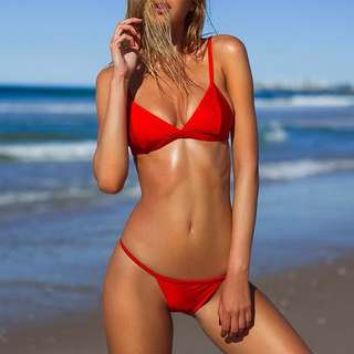 Frankie swim red bikini set
