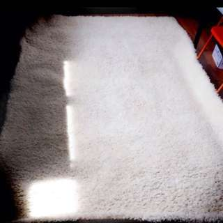 White Shaggy Rug