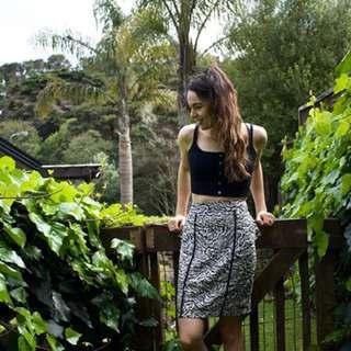 High-Waist straight skirt