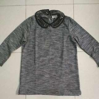 (Promo turun harga!!) Pull and bear sweater stuff grey