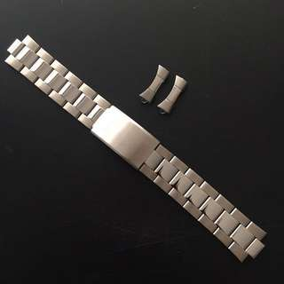Genuine 20mm Q&Q Oyster Stainless Steel Watch Bracelet