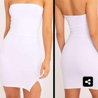 White Slit Dress