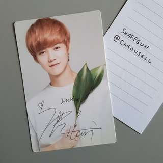 official luhan (exo) nature republic photocard 💎 kpop 💎