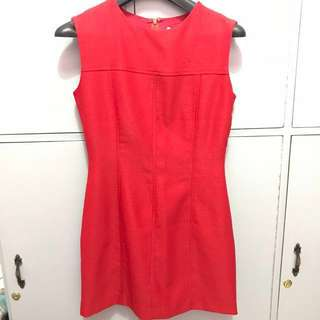 Red Office Dress (Size S)