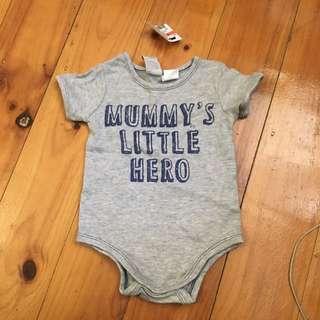 Baby Onsie Romper 00 Grey