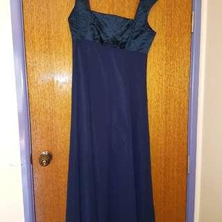 Navy blue formal prom dress
