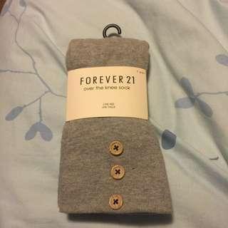 BNWT Forever 21 Grey over the knee socks
