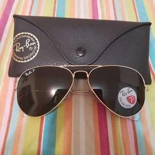 Authentic Ray Ban Polarized Aviator sunglasses - RB 3025