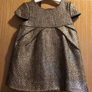Poney gold dress