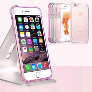 For iPhone Anti Knock Armor Hybrid Silicon Transparent Soft TPU Shockproof  Case For iPhone 6S 6 Plus 7 7 Plus 8 8 Plus Cover Cases
