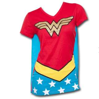 Wonder Woman Women's Costume Shirt With Cape