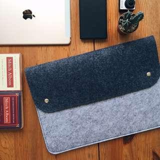 FREE POSTAGE Dual Tone felt sleeve MacBook Acer Asus HP for all laptops dark grey