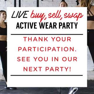 THANK YOU! Live Activewear Party