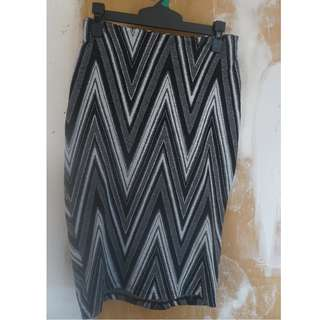 Striped Pencil Skirt, Size 6/8