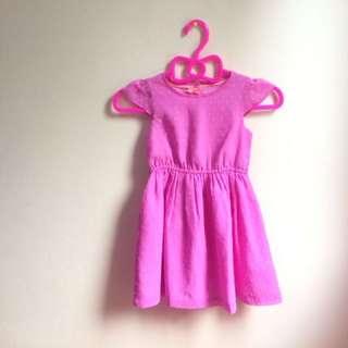 Fuchsia toddler dress