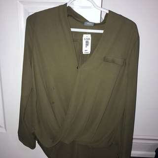 Olive Green Dressy Top