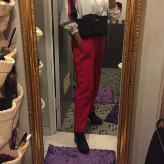 H&M Red Jogger Pants