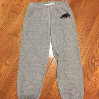 Roots cropped salt and pepper grey sweat pants