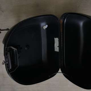 Motorcycles storage box with Stainless Steel Adaptor