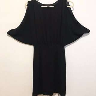 F21 Dress With Cut-Out-Shoulders