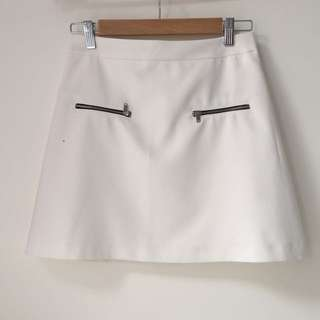 Zara Basic White Skirt