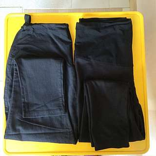Pre loved zalora bundle of two maternity Pants